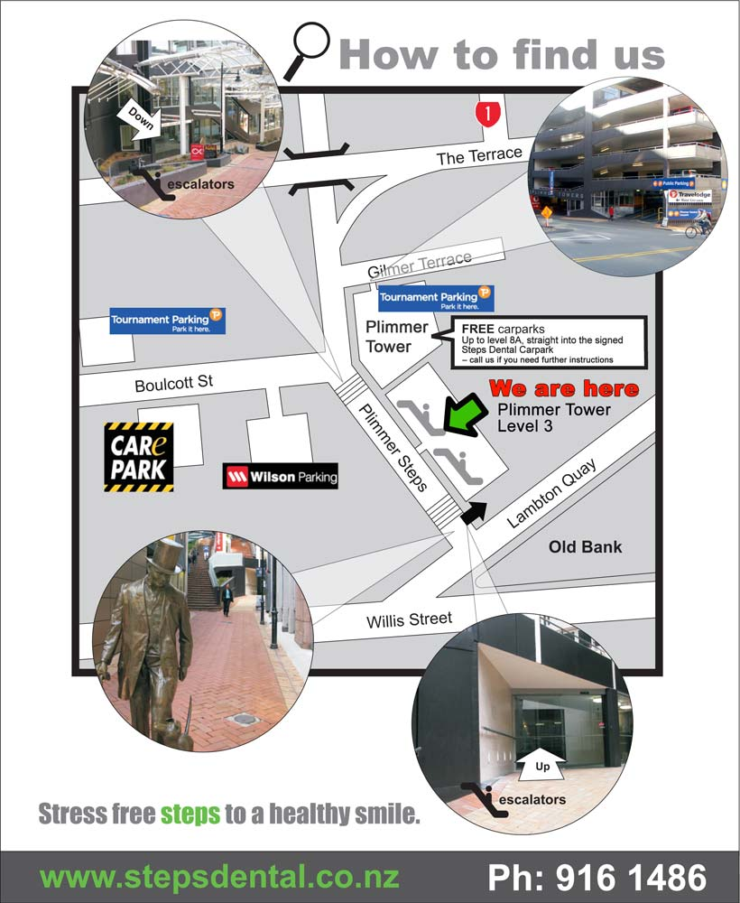 Steps Dental Care - location map